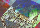 On the Move - New Orleans, photo collage, printed on bushed aluminum